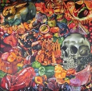 Bavardages gastronomiques, acrylique sur toile, 200 cm x  200 cm ,2011.