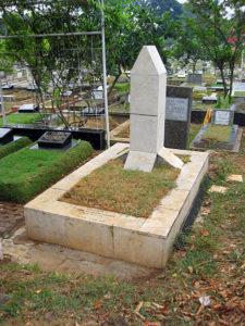 Makam Chairil Anwar di Karet Bovak Jakarta Selatan