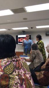 Prof Yamashita saat memaparkan tentang Tama Art University Japan